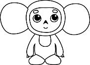 Ausmalbild Malvorlage Maus Kostüm