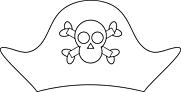 Ausmalbild Malvorlage Piratenhut