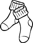 Ausmalbild Malvorlage Socken