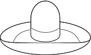 Ausmalbild Malvorlage Sombrero Sonnenhut