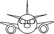 Ausmalbild Malvorlage Flugzeug