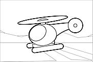 Ausmalbild Malvorlage Helikopter/Hubschrauber