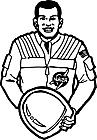 Ausmalbild Malvorlage Astronaut