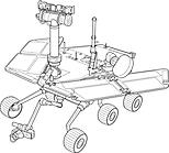 Ausmalbild Malvorlage Mars-Roboter