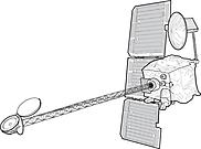 Ausmalbild Malvorlage Satellit