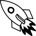 Ausmalbild Malvorlage Rakete