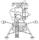Ausmalbild Malvorlage Raumfahrt Roboter