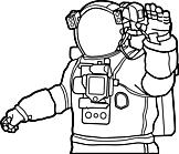 Ausmalbild Malvorlage Raumanzug