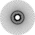 Ausmalbild Malvorlage Mandala Linien