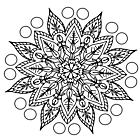Ausmalbild Malvorlage Mandala Blume