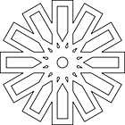 Ausmalbild Malvorlage Mandala Blumen
