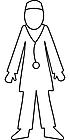 Ausmalbild Malvorlage Arzt/Doktor