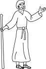 Ausmalbild Malvorlage Bibelfigur