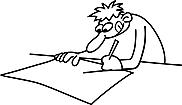 Ausmalbild Malvorlage Kind schreibt
