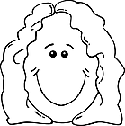 Ausmalbild Malvorlage lachende Frau