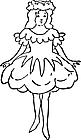 Ausmalbild Malvorlage Ballerina