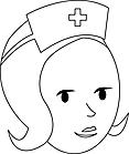 Ausmalbild Malvorlage Krankenschwester