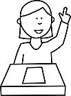 Ausmalbild Malvorlage Schülerin
