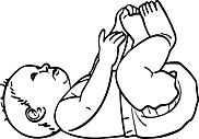 Ausmalbild Malvorlage Baby
