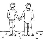 Ausmalbild Malvorlage Mann und Frau
