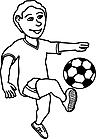 Ausmalbild Malvorlage Fußballspieler