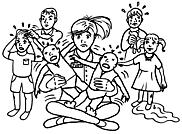 Ausmalbild Malvorlage Kindergärtnerin