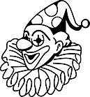 Ausmalbild Malvorlage Clown