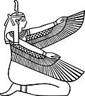 Ausmalbild Malvorlage Ägypterin