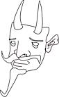 Ausmalbild Malvorlage Maske Teufel