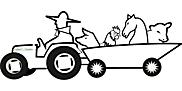 Ausmalbild Malvorlage Bauer mit Tieren