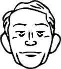 Ausmalbild Malvorlage Mann / Gesicht