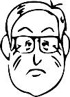 Ausmalbild Malvorlage Mann mit Brille