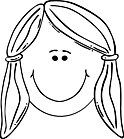 Ausmalbild Malvorlage Mädchen