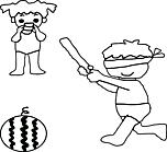 Ausmalbild Malvorlage Spielende Kinder