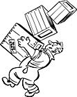 Ausmalbild Malvorlage Kisten schleppen