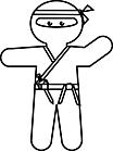 Ausmalbild Malvorlage Ninja