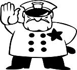 Ausmalbild Malvorlage Polizist
