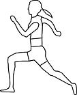 Ausmalbild Malvorlage Sportler