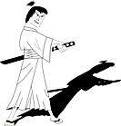 Ausmalbild Malvorlage Samurai