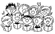 Ausmalbild Malvorlage Chor