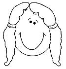 Ausmalbild Malvorlage Mädchengesicht