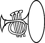 Ausmalbild Malvorlage Trompete