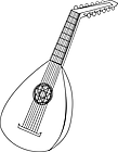 Ausmalbild Malvorlage Gitarre