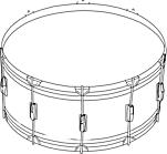 Ausmalbild Malvorlage Trommel
