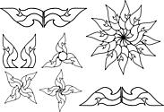 Ausmalbild Malvorlage Kunstvolle Blüten