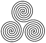 Ausmalbild Malvorlage Spiralen