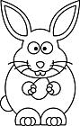 Ausmalbild Malvorlage Osterhase