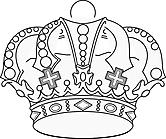 Ausmalbild Malvorlage Krone