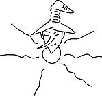 Ausmalbild Malvorlage Kobold