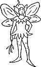 Ausmalbild Malvorlage Elfe / Fee
